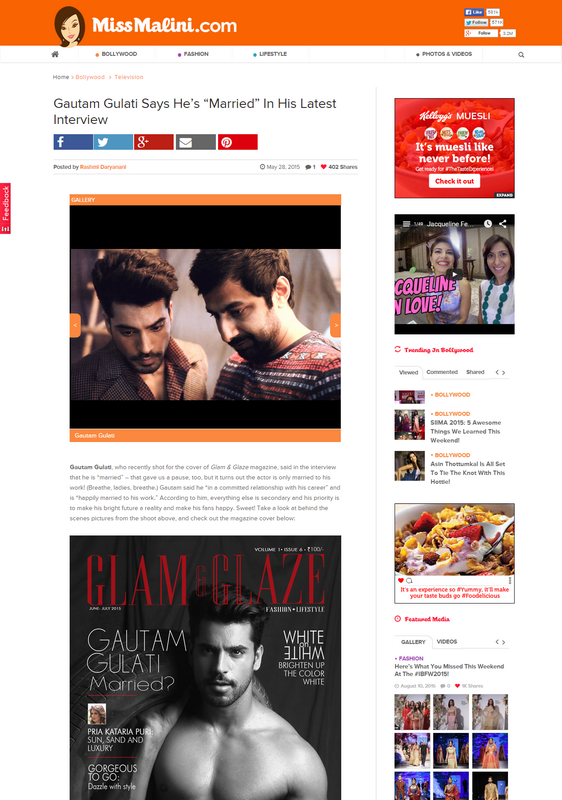 wedding_Gautam Gulati Says He s  Married  In His Latest Interview   MissMalini