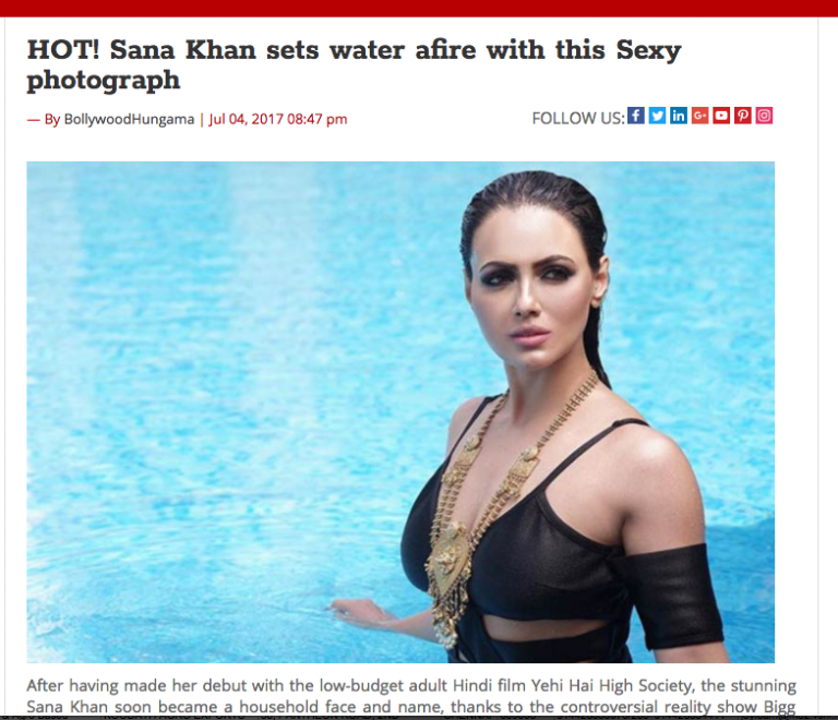 Sana Khan Shoot Coverage by Bollywood Hungama