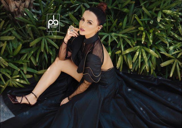 Exploring the world of monochrome with stunning Sana Khan