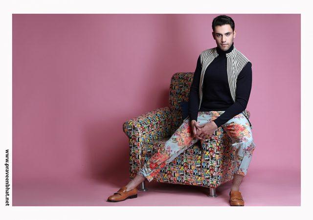Modelling portfolio shoot for male model Ravi