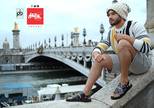 Advertising Photography for Hitz Shoes in Paris with Actor Abhilash Kumar