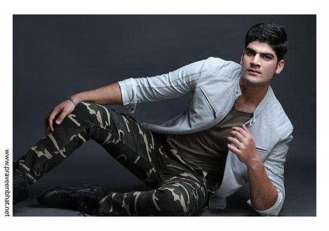 Male modelling portfolio shoot by Praveen Bhat for Akash Sabharwal