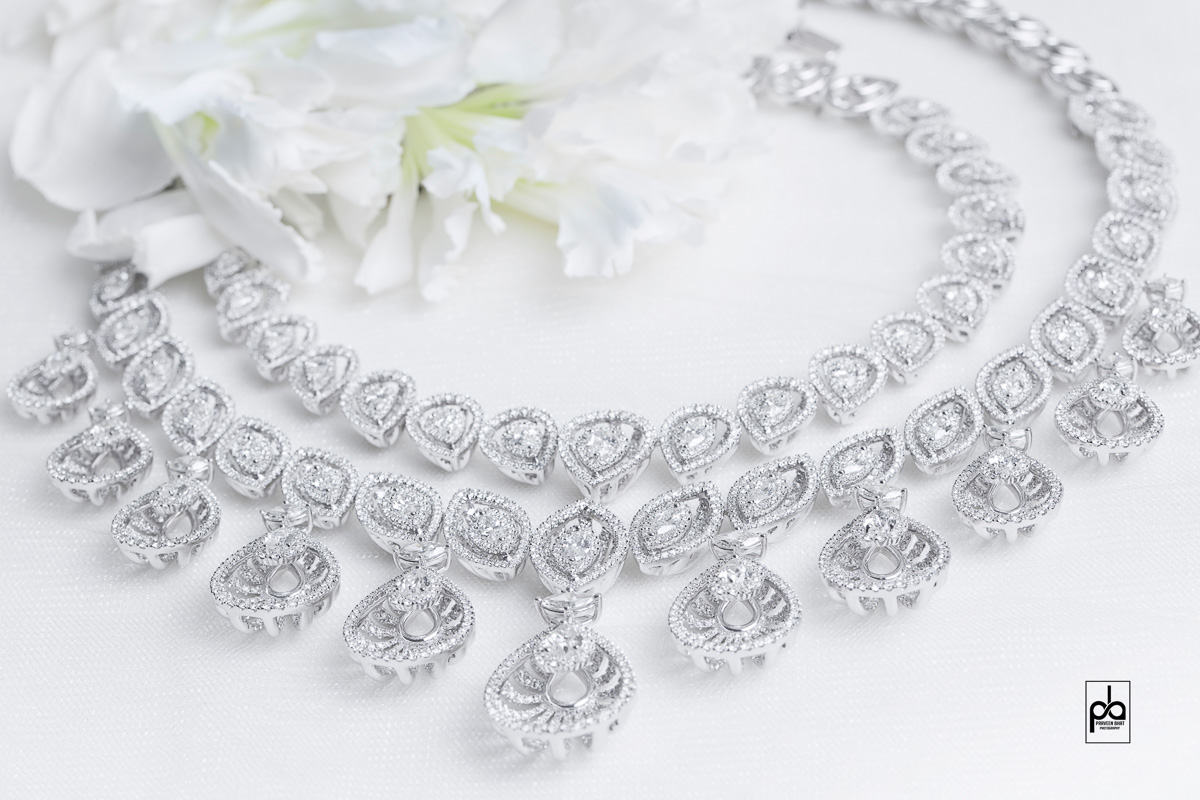 Diamond necklace jewellery photography