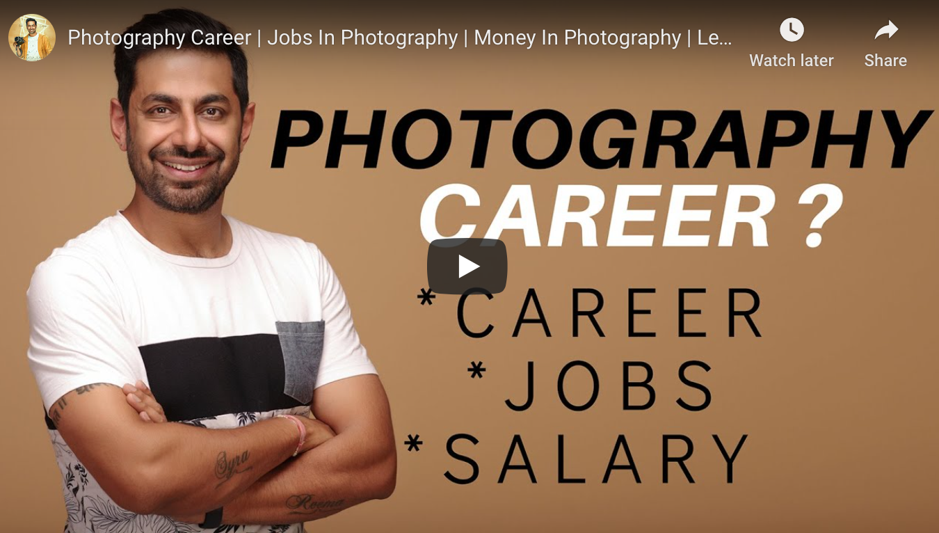 Become Professional Photographer in india