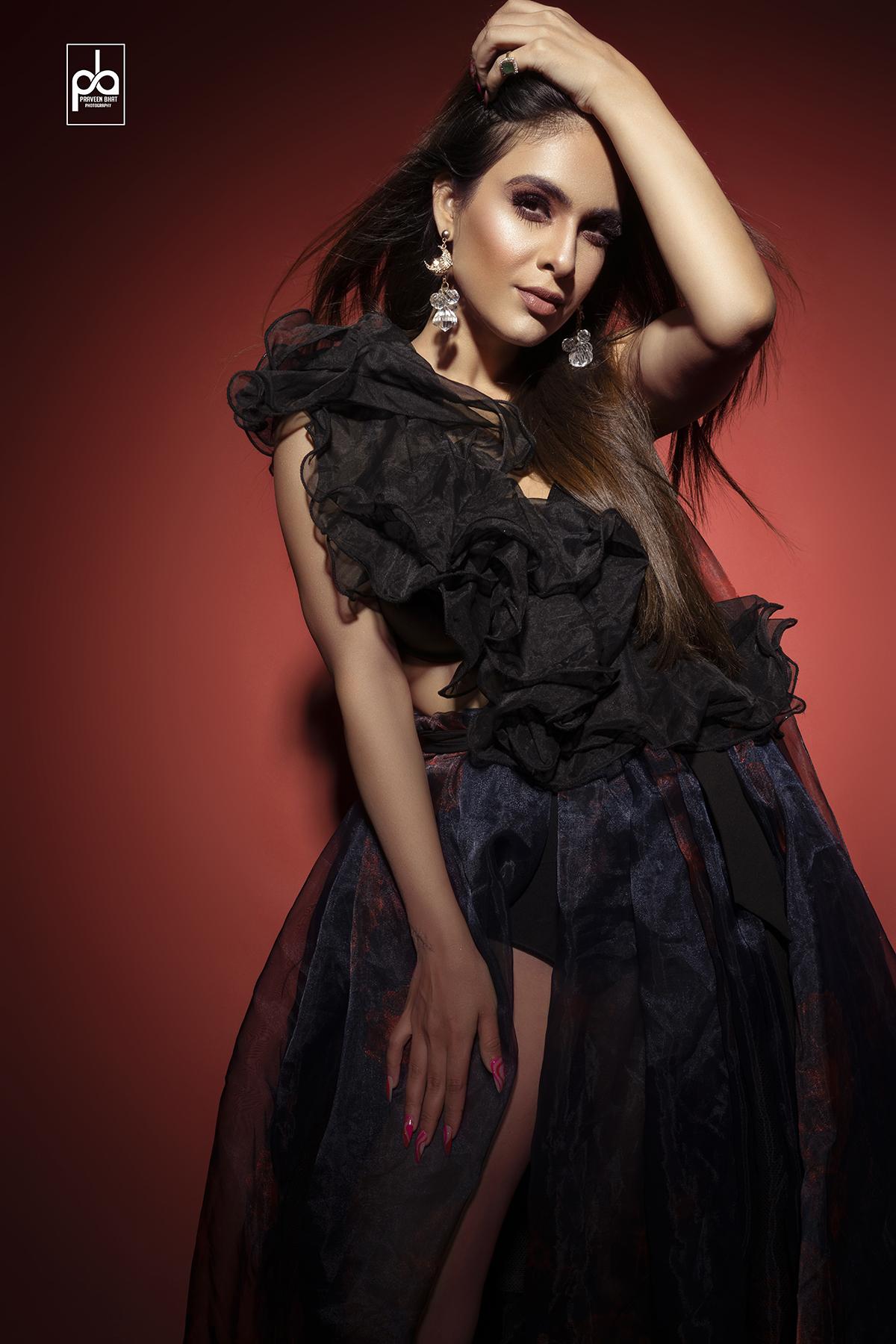 female model photoshoot